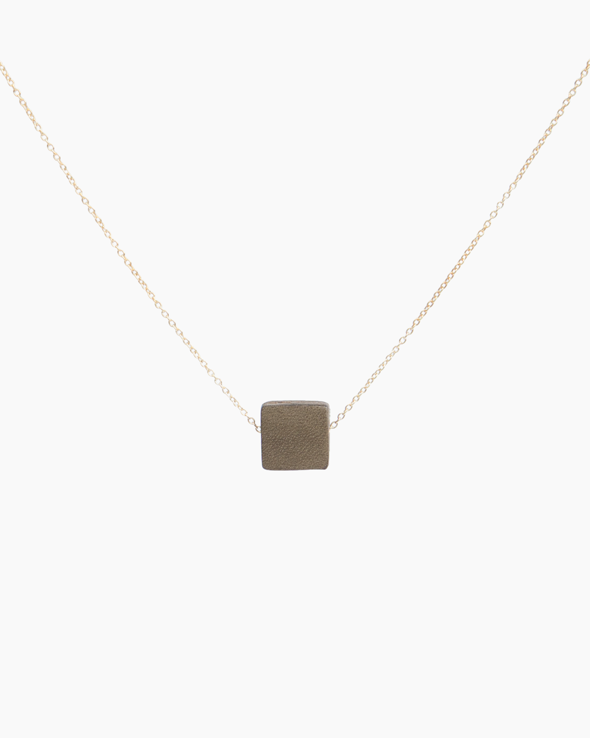 Leather Solo Block Necklace