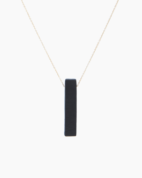 Leather Solo Stem Necklace
