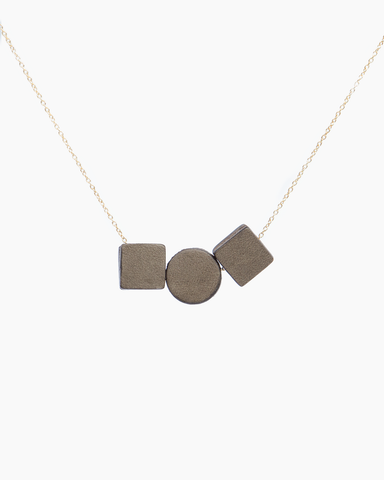 Leather Trio Necklace