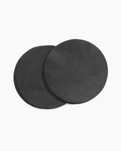 Plain Leather Coaster Set