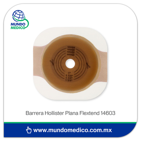 Barrera de Colostomía Hollister Plana Flextend 14603 Recortable 44 mm, Aro 57 mm