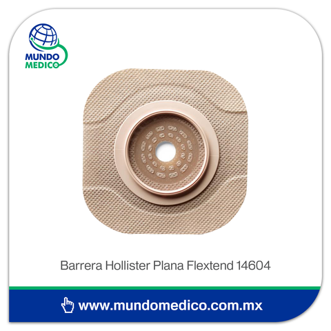 Barrera de Ostomía Hollister 14604 Recortable Plana Hasta 57 mm, Aro 70 mm