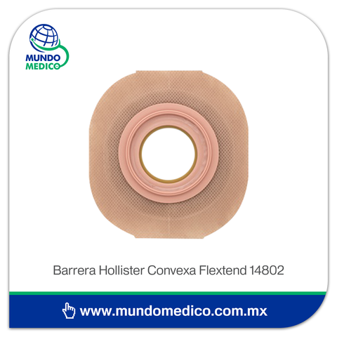 Barrera de Ostomía Hollister 14802 Convexa Recortable Hasta 25 mm, Aro 44 mm