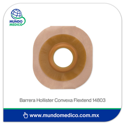 Barrera de Ostomía Hollister 14803 Convexa Recortable Hasta 44 mm, Aro 57 mm