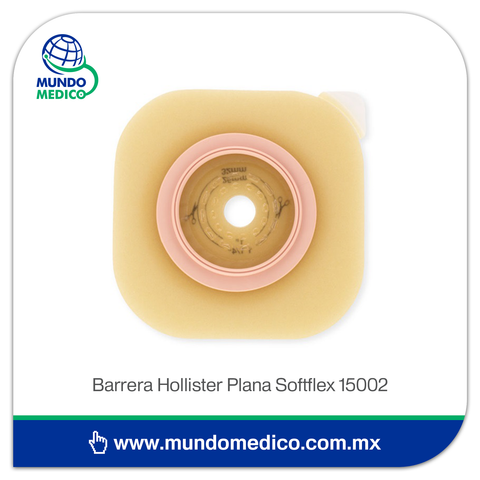 Barrera de Ostomía Hollister 15002 Recortable Hasta 32 mm, Aro 44 mm