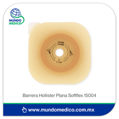 Barrera de Colostomía Hollister Plana SoftFlex 15004 Recortable 57 mm, Aro 70 mm
