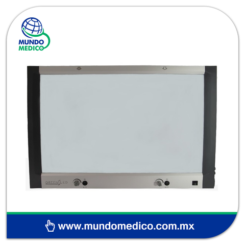 Negatoscopio Plano, Dos Placas LED 6300 Lux Marca GreenLed (GLTB1-H2)