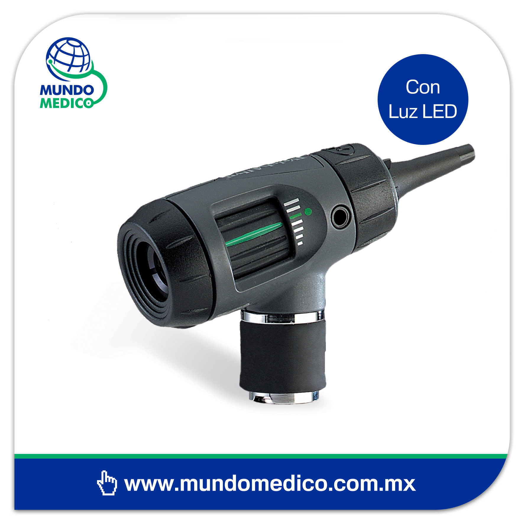 WA23820-L Otoscopio Macroview LED Con Iluminador de Garganta Welch Allyn