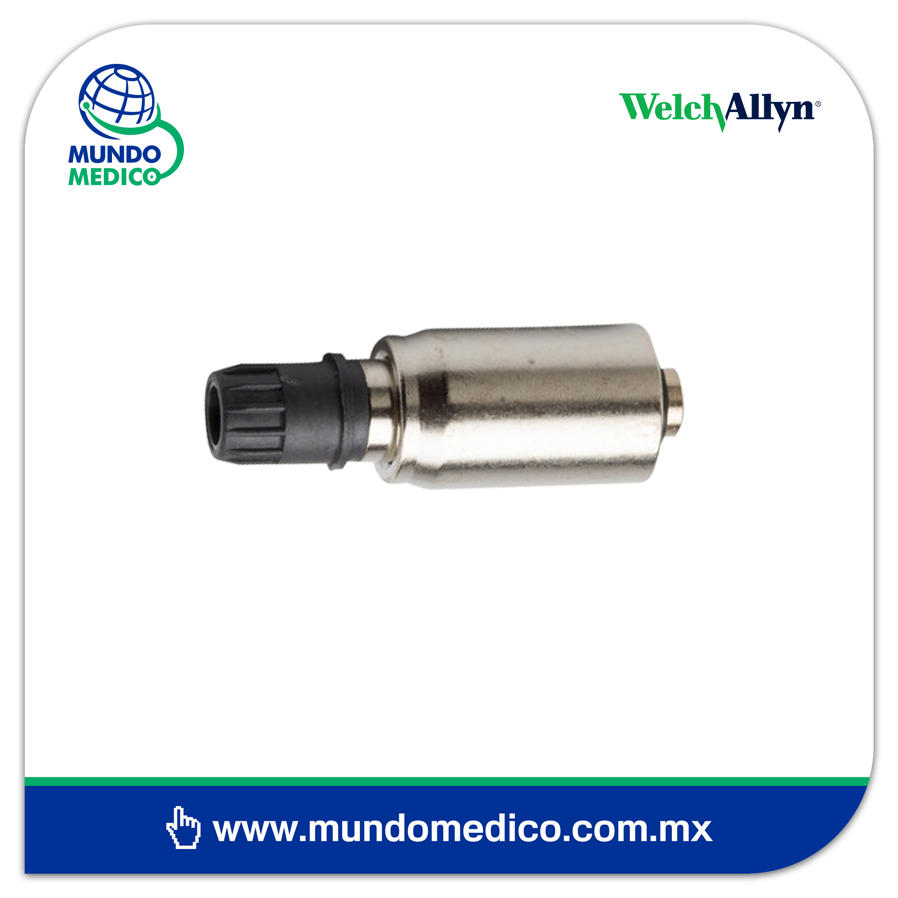 WA608125-501 Switch con Foco Gold para Mango de Laringoscopio de 2.5v y 3.5v Welch Allyn