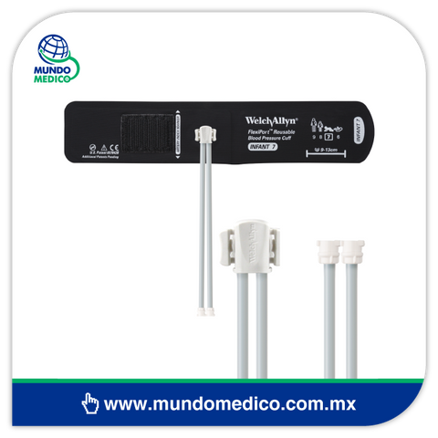 WAPORT-2 Adaptador de 2 Tubos para Brazalete Flexiport Welch Allyn