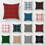 Load image into Gallery viewer, Scottish Red Plaid Pillowcase