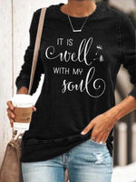 Load image into Gallery viewer, Women's IT IS Well WITH MY Soul Print Top