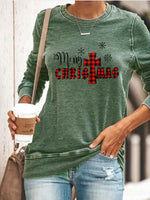 Load image into Gallery viewer, Women's Merry Christmas Print Sweatshirt