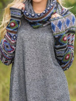 Load image into Gallery viewer, Women's ethnic style sweater knit top