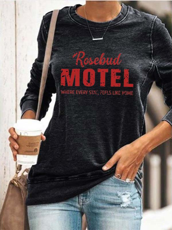Rose Motel Schitts Creek Fan Cozy Sweatshirt