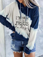 Load image into Gallery viewer, Women's I'm Only talking to Jesus today Printed Tie-Dye Hoodie