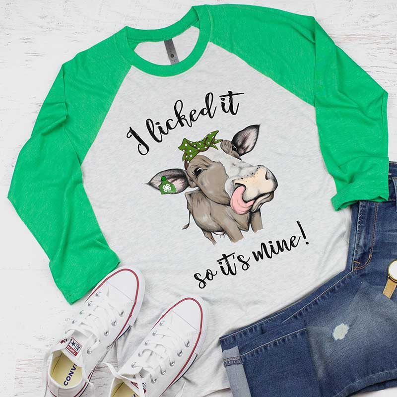 Ladies I Licked It, So It's Mine! Letter Print Long Sleeve Top