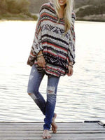 Load image into Gallery viewer, Ladies Striped Simple Sweater