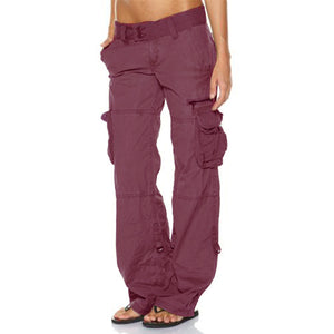 Hip Hugger Comfy Cargo Casual Pants