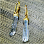 Load image into Gallery viewer, 18k gold plated crystal earrings