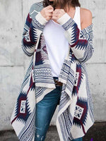Load image into Gallery viewer, Women's Geometric Print Cardigan