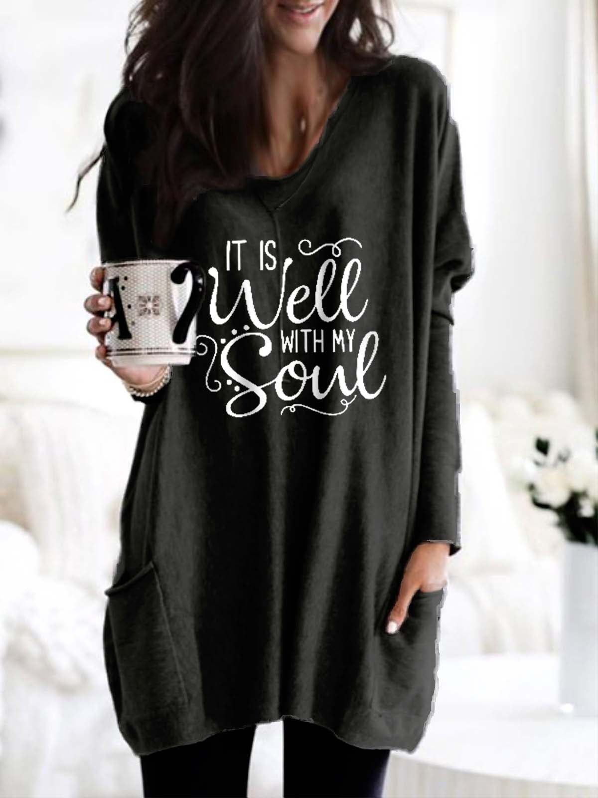 It Is Well With My Soul Long Top