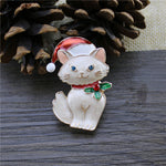Load image into Gallery viewer, Cute Cartoon Cat Christmas Badge Pin Corsage Sweater Coat Accessory Gift