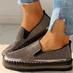 Load image into Gallery viewer, Women's Casual Fashion Rhinestone Slip-on Shoes