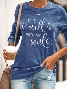 Women's IT IS Well WITH MY Soul Print Top