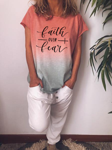 Faith Over Fear Gradient T-shirt