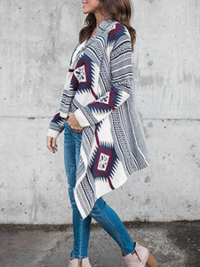 Women's Geometric Print Cardigan