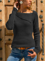 Load image into Gallery viewer, Ladies lapel long sleeve knitted sweater