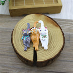 Load image into Gallery viewer, Christmas Three Cats Enamel Temperament Corsage Coat Drip Glaze Brooch