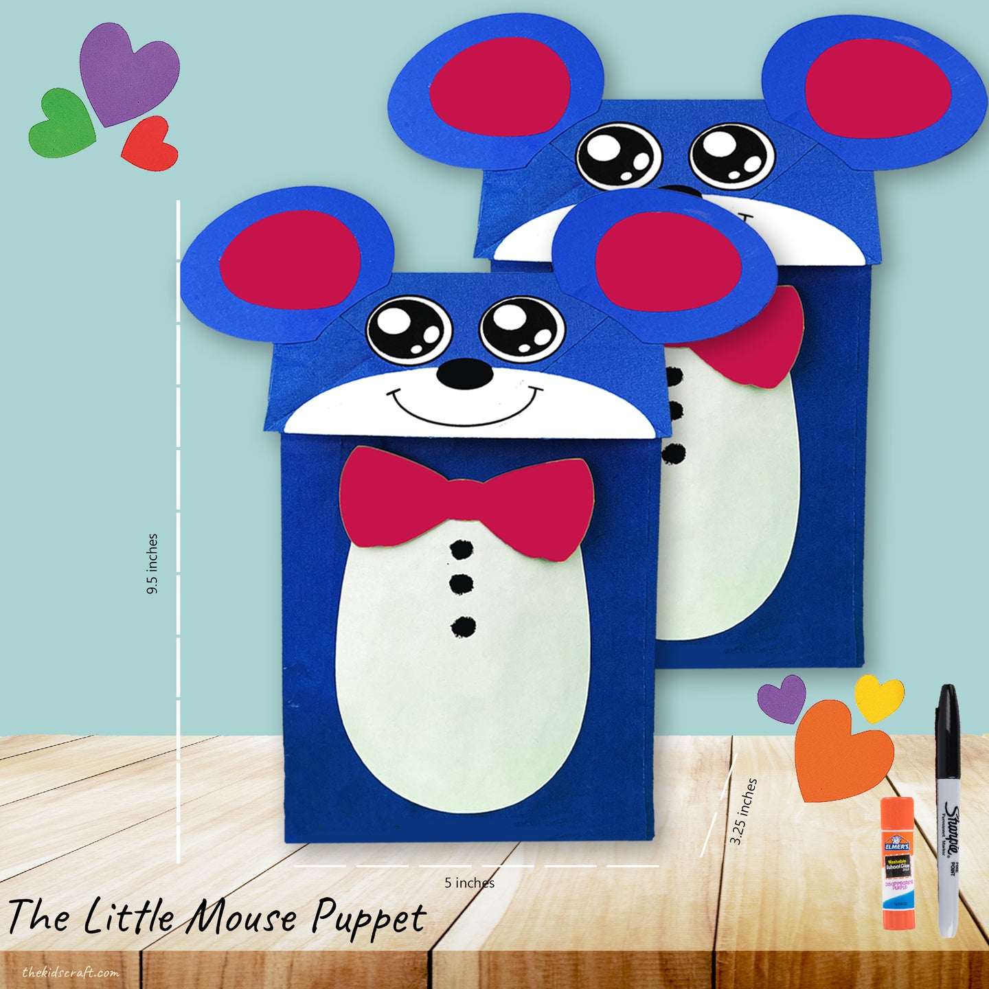 The Little Mouse Puppet (Bundled for 2)