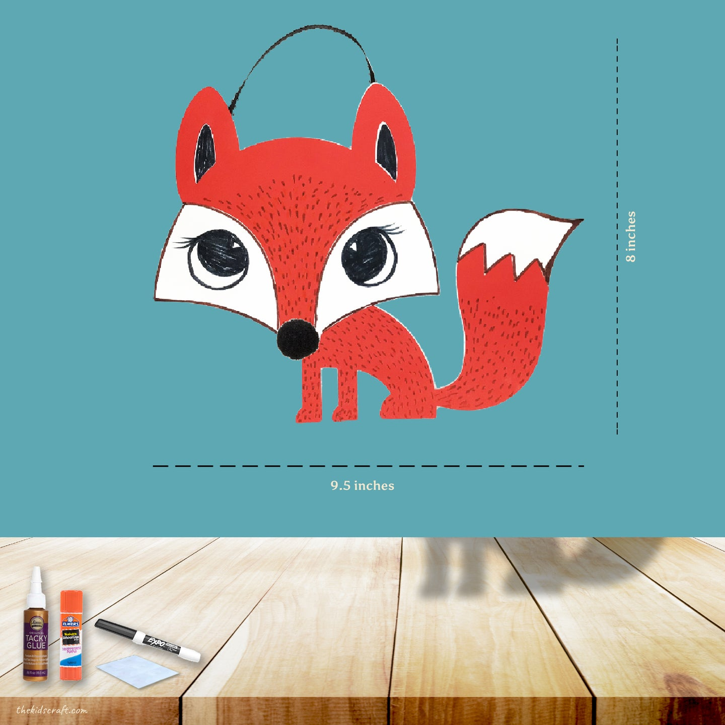 The Clever Little Fox DIY Craft Kit (Pack of 1, 6 or 12 kits)