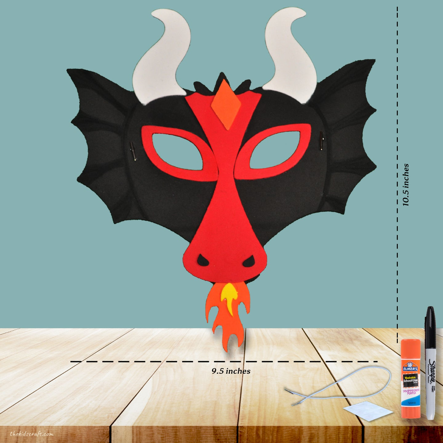 Wearable Fiery Dragon DIY Craft Kit (Pack of 1, 6 or 12 kits)
