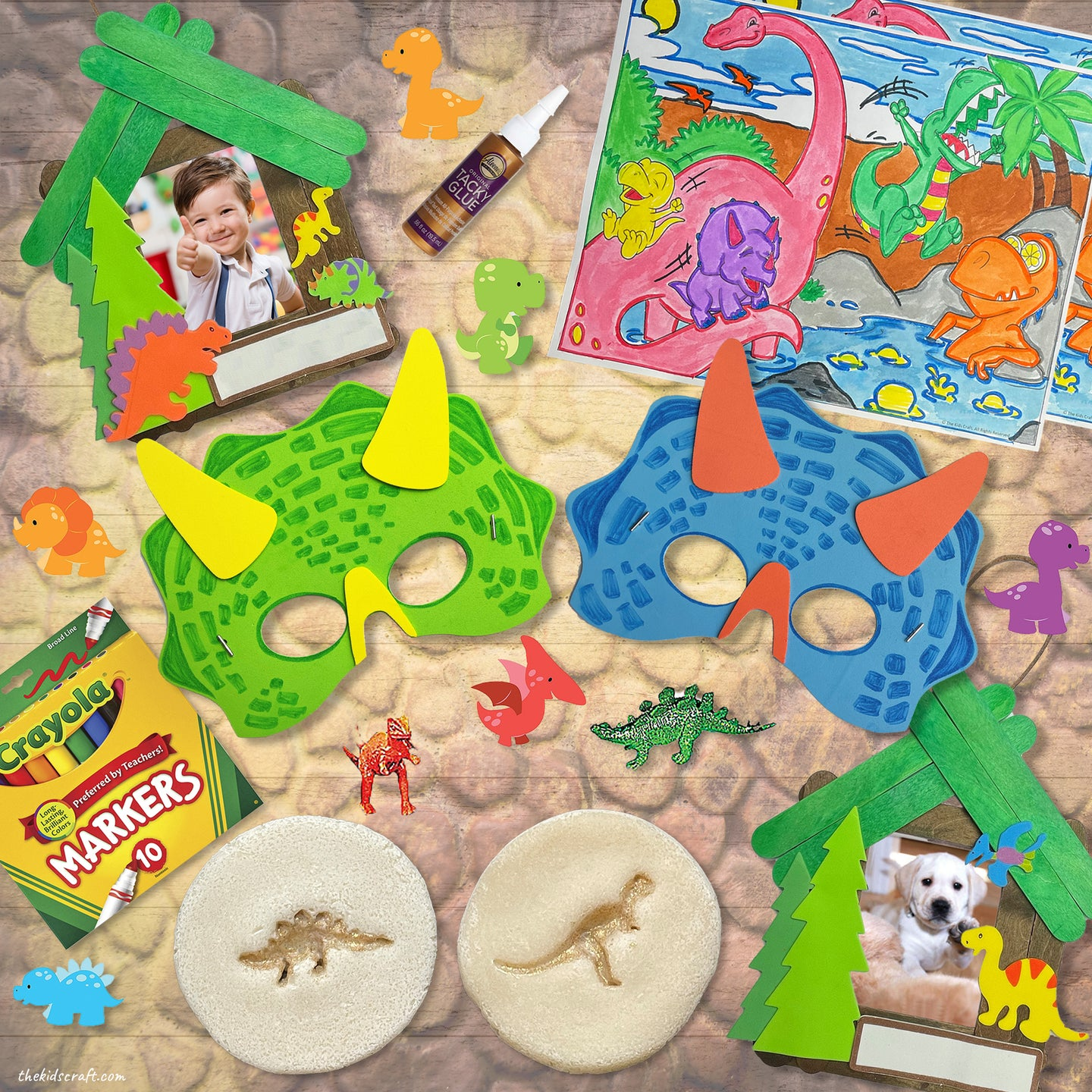 The Land of Lucky Saurus, Dinosaur DIY Craft Kit Box