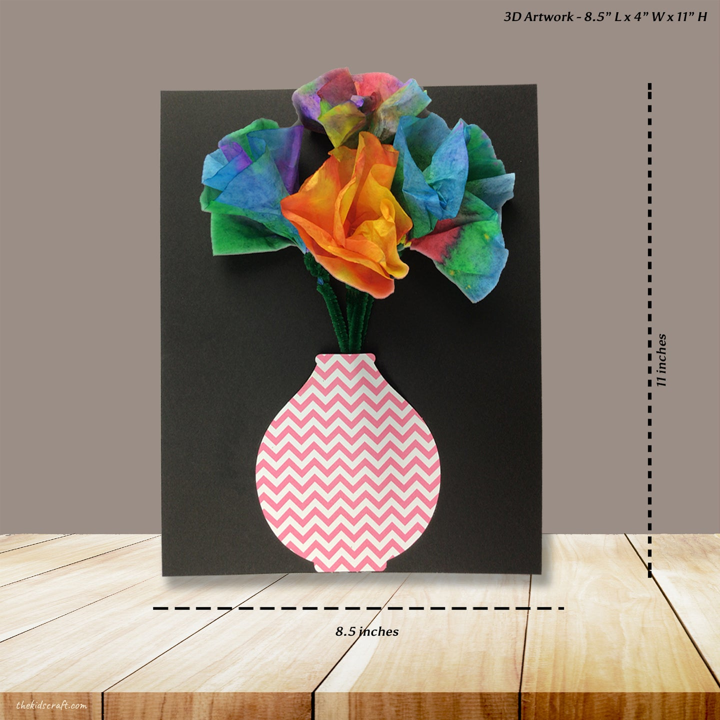 3D Artwork DIY Craft Kit (Pack of 1, 6 or 12 kits)