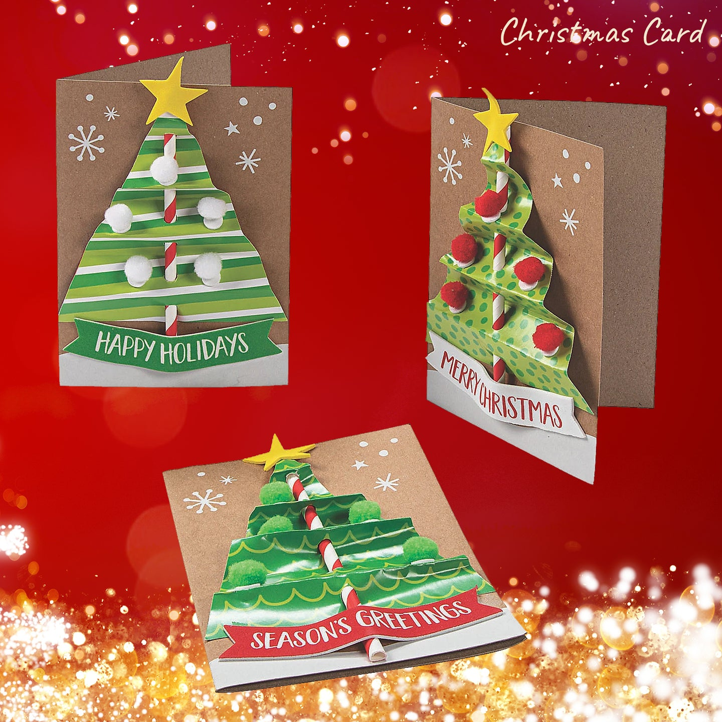 Christmas Tree DIY Craft Kit (Pack of 1, 2 or 12 kits)