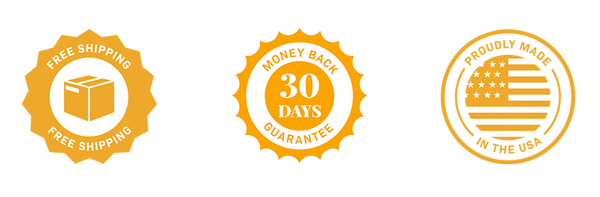 Free shipping. 30 day money back guarantee. Made in the USA