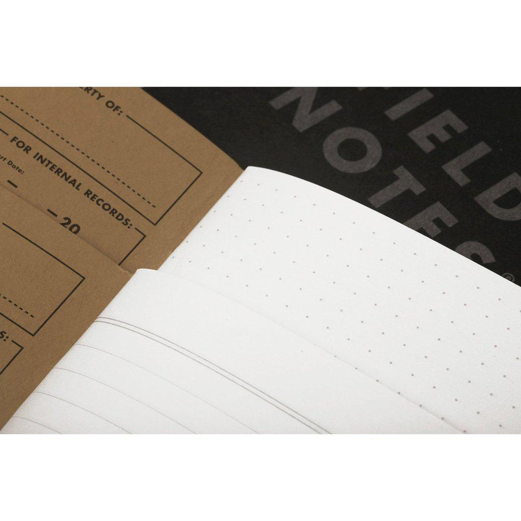 Field Notes Pitch Black Memobook (3-Pack) - Image 1