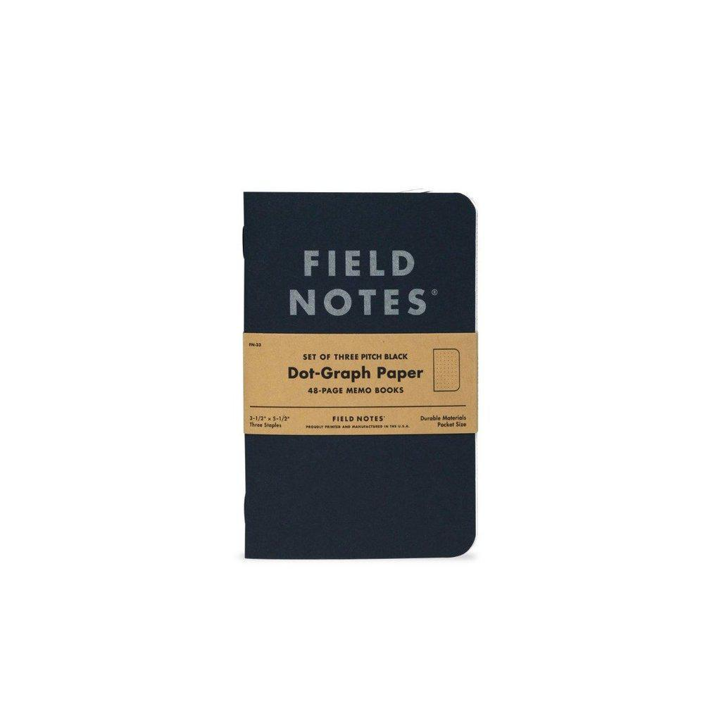 Field Notes Pitch Black Memobook (3-Pack) - Image 3