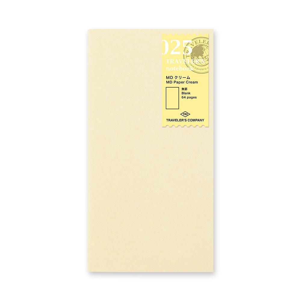 Traveler's Company - 025 MD Paper Cream Refill (Regular) - Image 1
