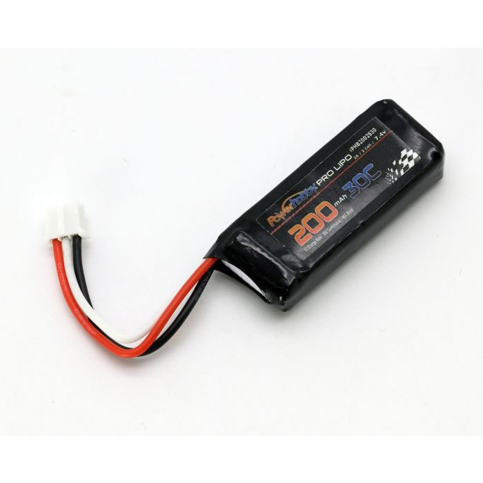 Powerhobby 2S 200MAH 30C Lio Battery : Blade UM F-27 E-flite UMX P-47 Timber