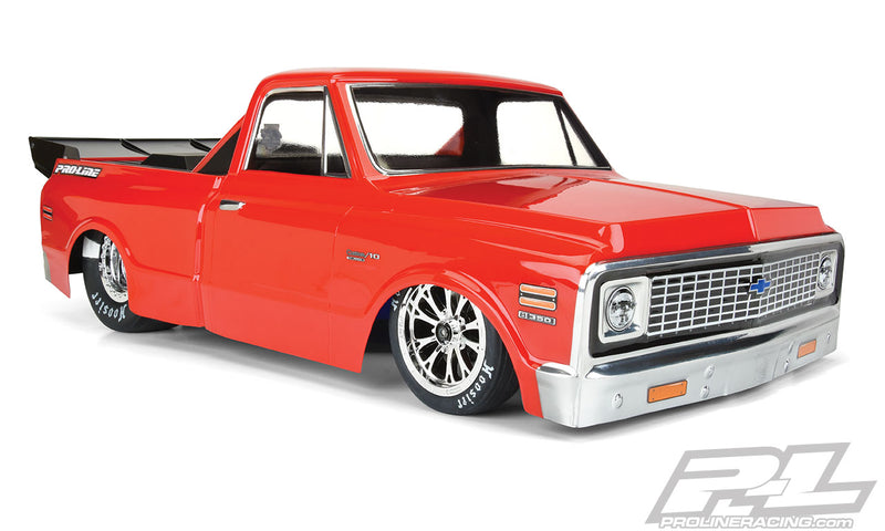1972 Chevy C-10 Clear Body for Losi 22S No Prep Drag Car, Slash 2wd Drag Car & AE DR10 (with trimming)