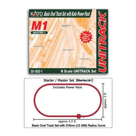 Kato - N M1 Basic Oval Track Set w/Power Pack