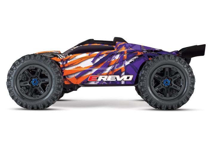 Traxxas E-Revo 2 VXL Brushless RC Monster Truck w/TSM Stability Management - Purple