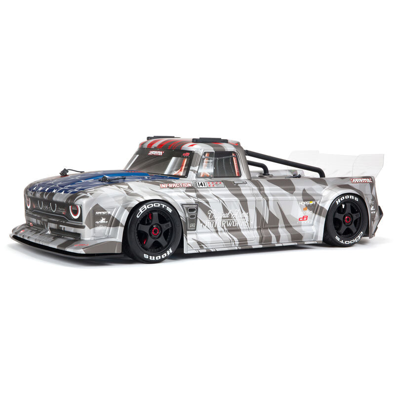 Arrma 1/7 INFRACTION 6S BLX V2 All-Road Truck RTR, Silver