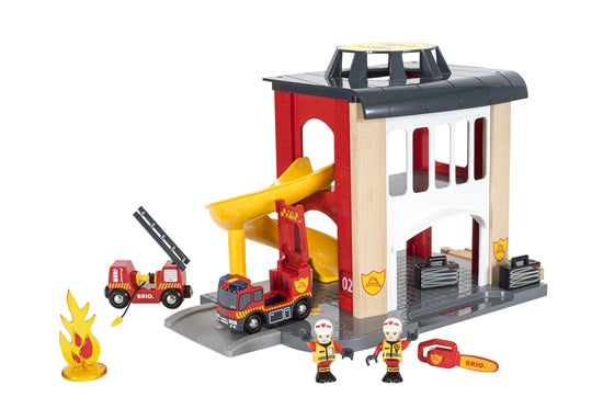 Brio - Rescue Fire Station (with extra content)