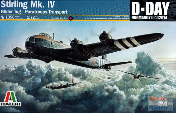 1/72 Stirling Mk IV Glider Tug-Paratrooper Transporter Aircraft D-Day Normandy